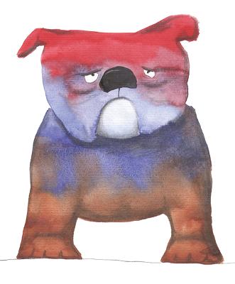 Esther Maurer, aquarelle Bulldog, 2003