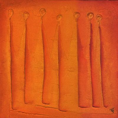 Esther Maurer, tableau Sept amis, 2003