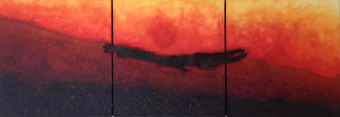 Esther Maurer, tableau Le vent du feu, 2008
